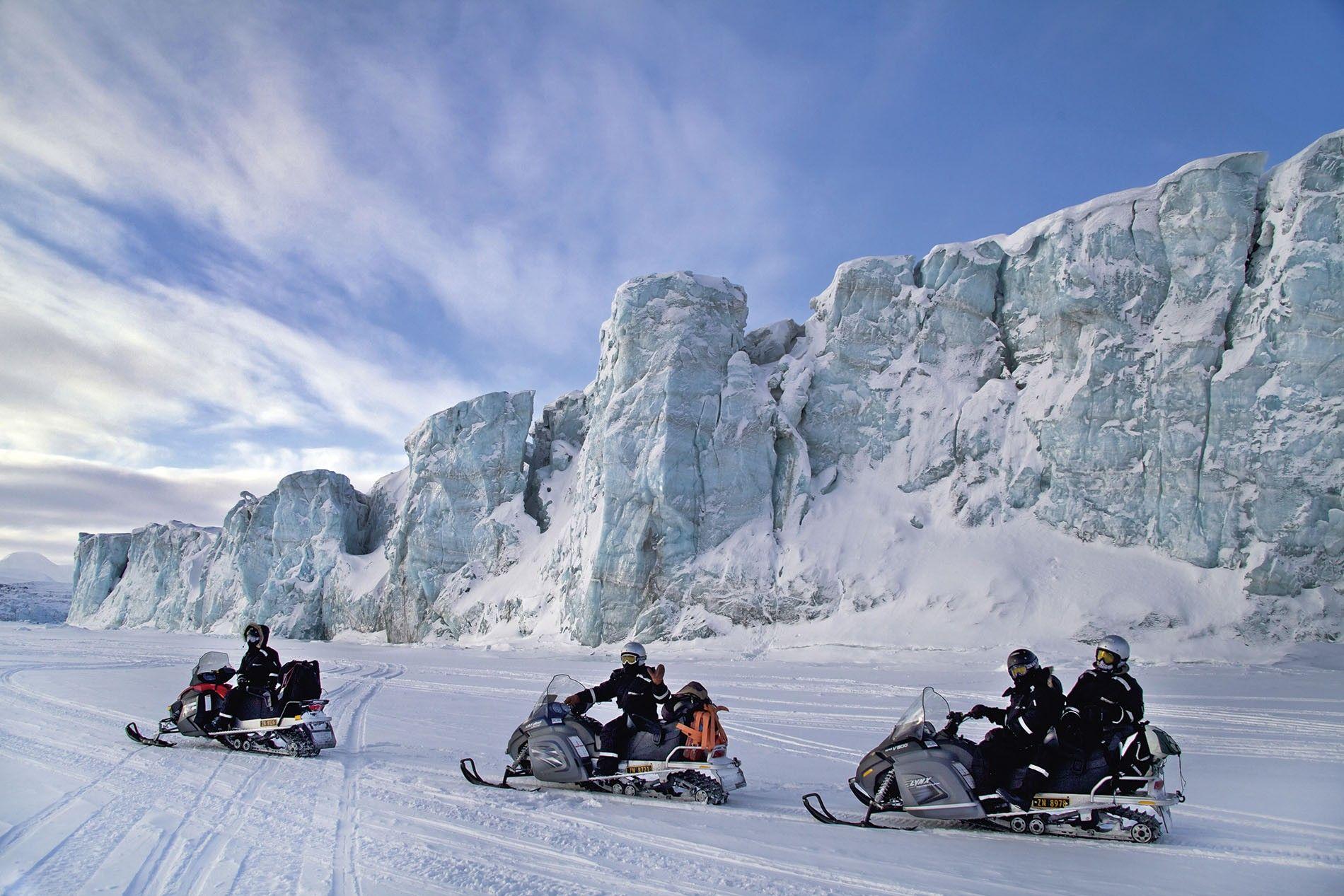Snowmobiles in Svalbard
