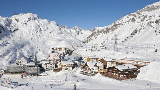 Skiing at St Anton am Alberg.