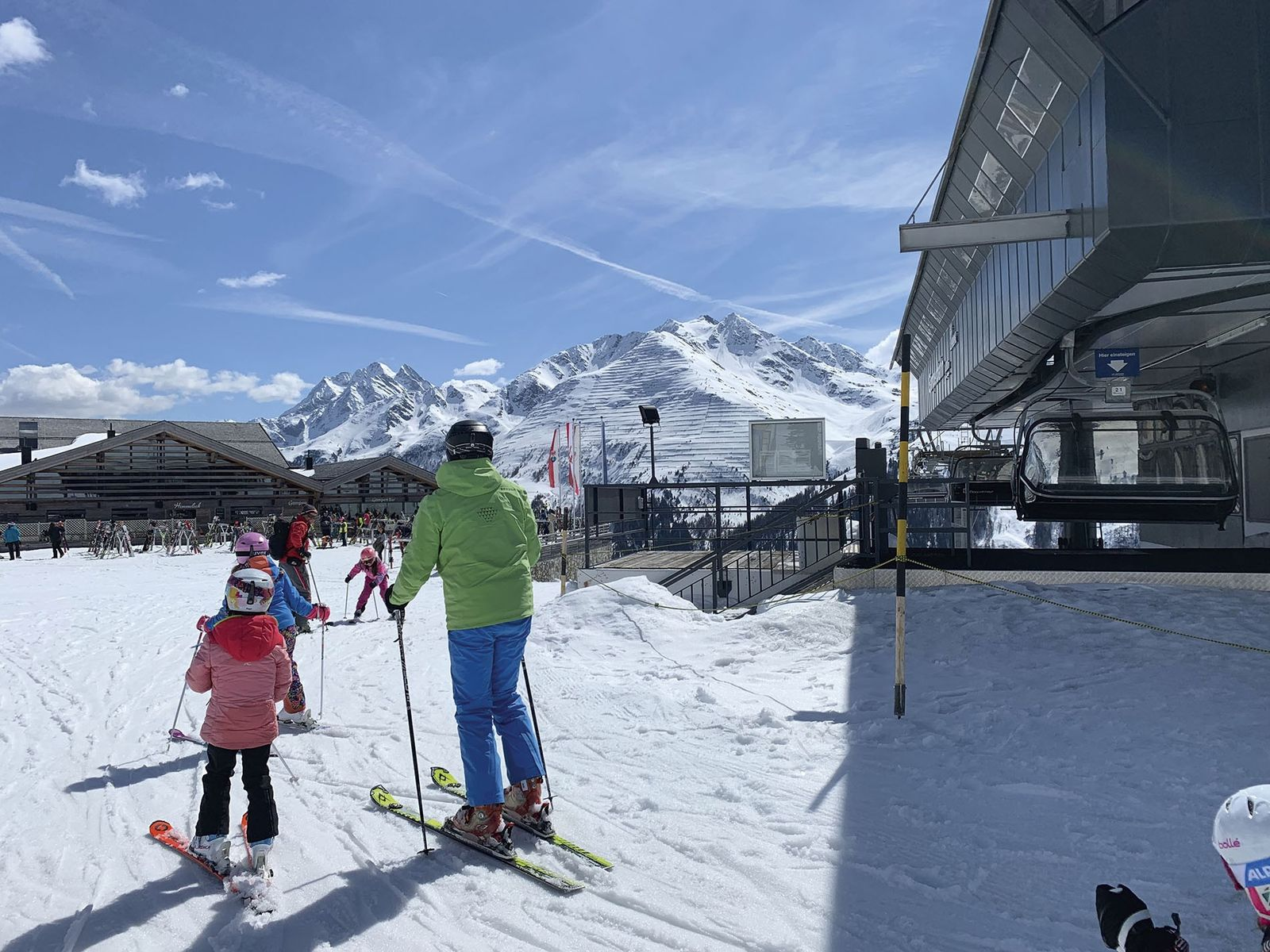 Schussing into ski school.