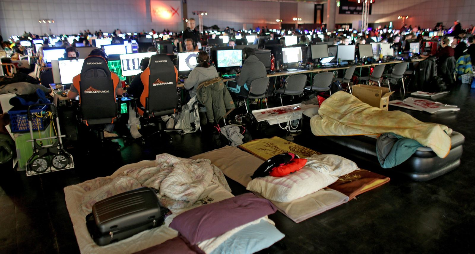 At a festival in Leipzig, Germany, computer gamers – often working in teams – bring their own ...