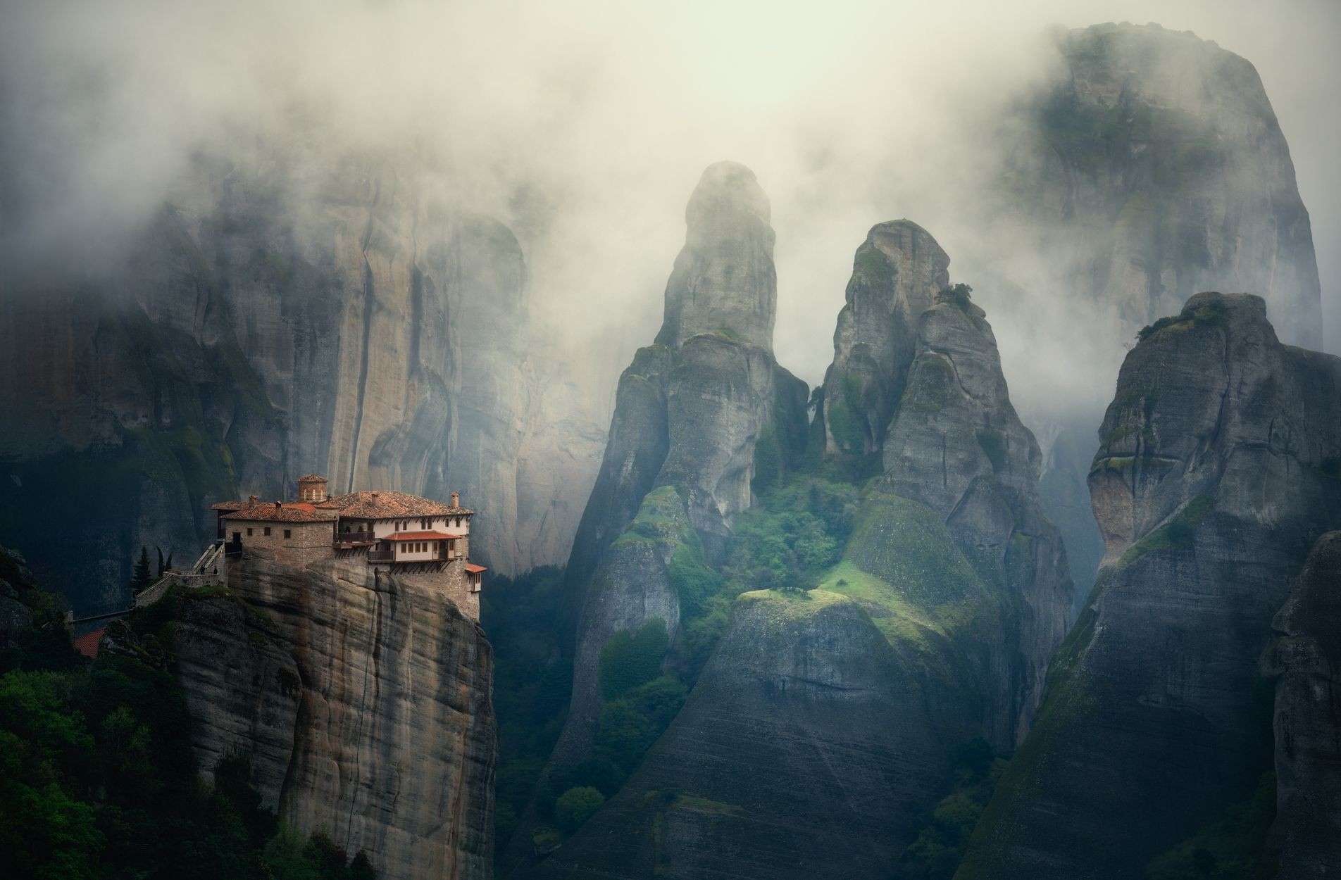 Monastery in the Mist