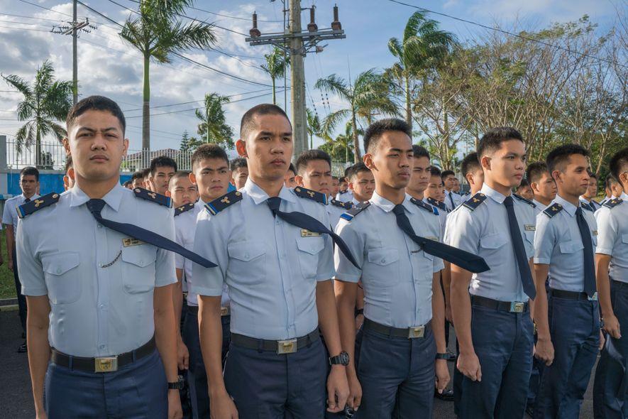 Cadets at a merchant marine academy near Manila train for one of the most prestigious jobs ...
