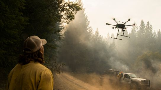 The Slater Fire burns in Oregon's Rogue River-Siskiyou National Forest, near the border with California, on ...
