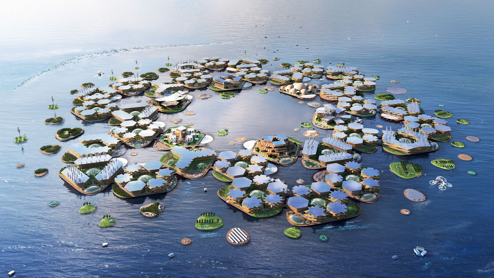 Design company Oceanix is proposing a modular concept for new floating cities.