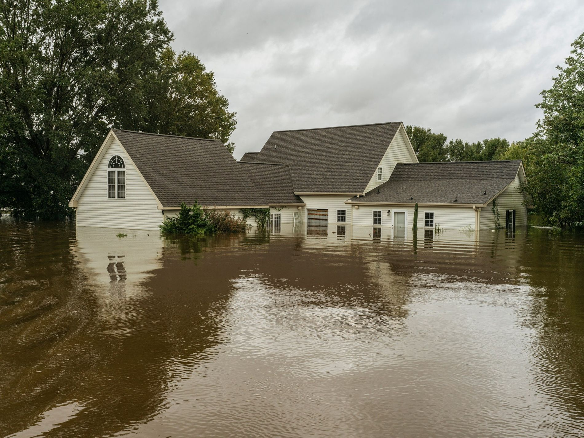 A home is flooded by Thoroughfare Swamp in Goldsboro, North Carolina, after several days of heavy rain from Florence overwhelmed rivers.