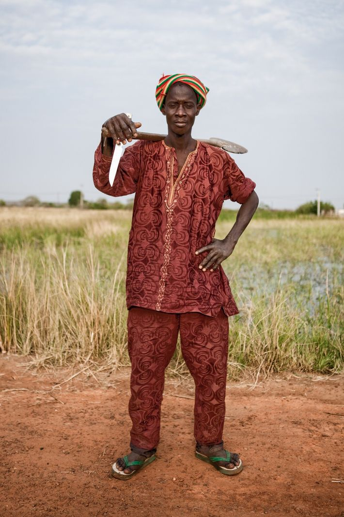 A migrant fisherman from the Senegalese Tukulor community poses for a portrait at Kauur, a town ...