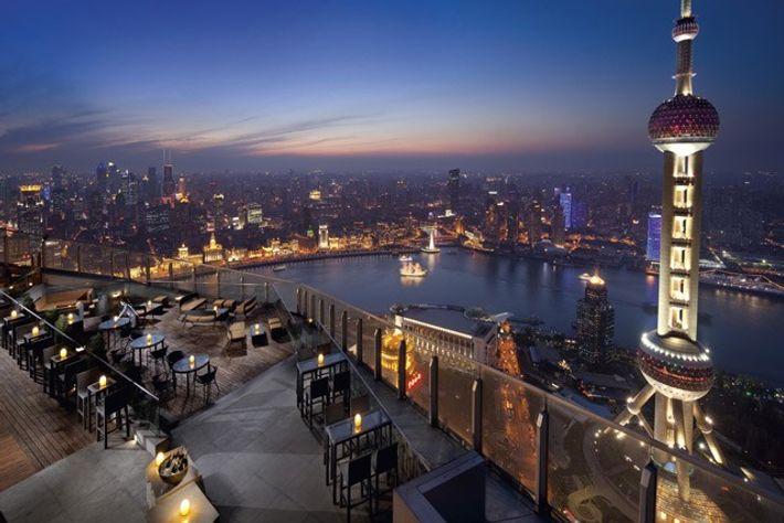 View from Flair at the Ritz-Carlton Shanghai.