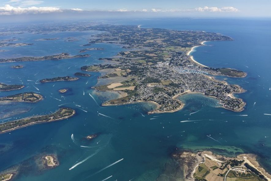 Aerial shot of Arzon. Credit: Getty