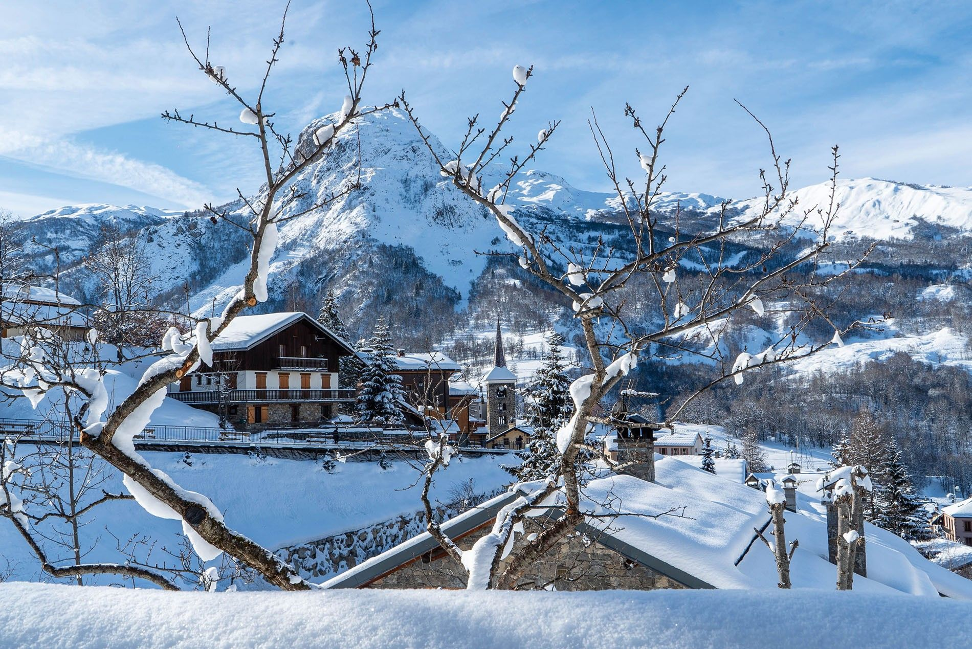Within easy reach of the Les Trois Vallées ski area, the centuries-old village of St Martin de Belleville ticks all the Francophile boxes.
