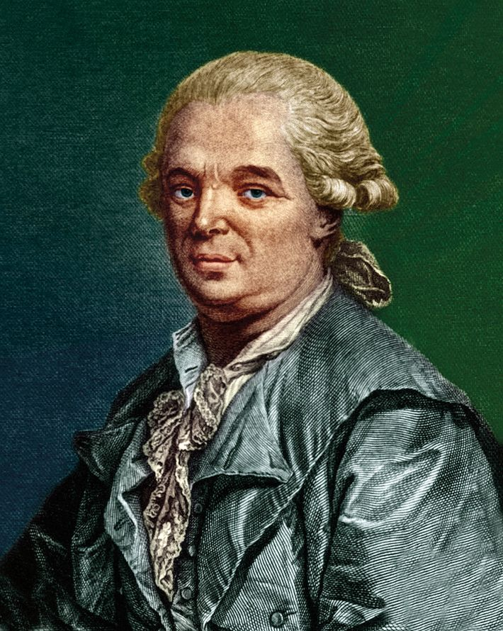 """An 18-century engraving of Franz Anton Mesmer, the German doctor who """"discovered"""" mesmerism."""