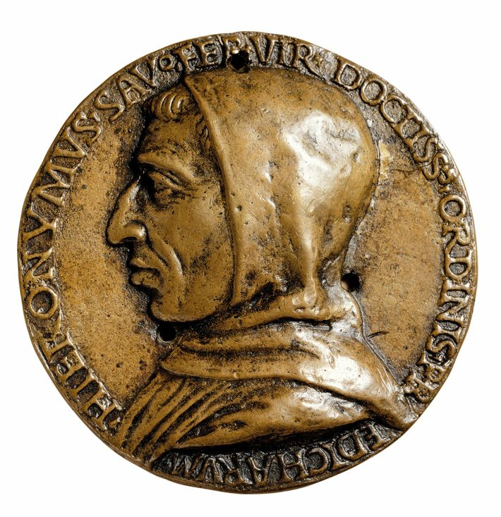 Machiavelli was 24 when the friar Girolamo Savonarola (above, circa 15th-century coin) expelled the Medici from ...