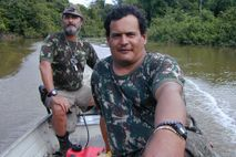 Rieli Franciscato, right, participates in an expedition to document the presence of isolated tribes in the ...