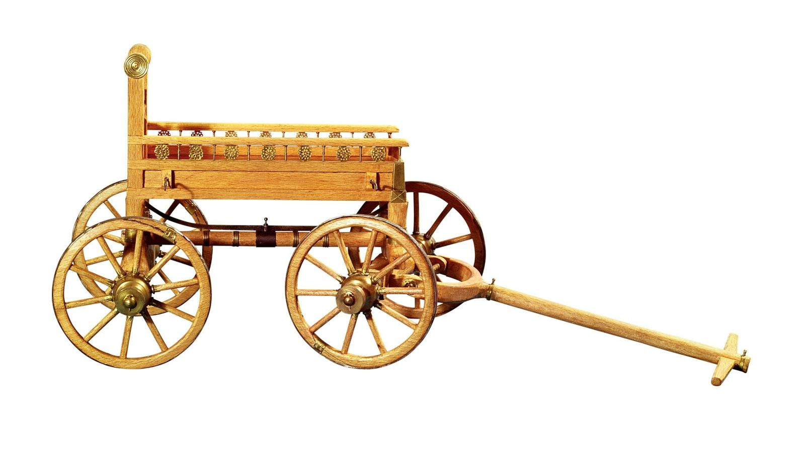 This is a reconstruction of the funeral carriage on which the body in the Vix burial ...