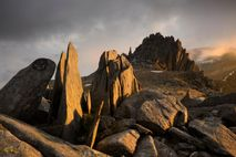Weathering and frost-shattering on the summits of the Glyderau mountains has left a legacy of natural ...