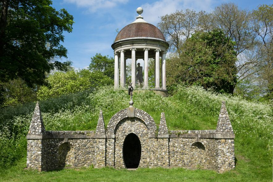 The Temple of Venus - on its namesake mound – was commissioned by Sir Francis Dashwood ...