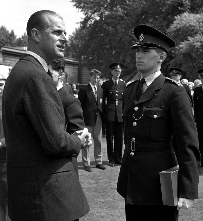 The Duke of Edinburgh with 18-year-old David Salisbury, a Liverpool Police Cadet - one of the ...