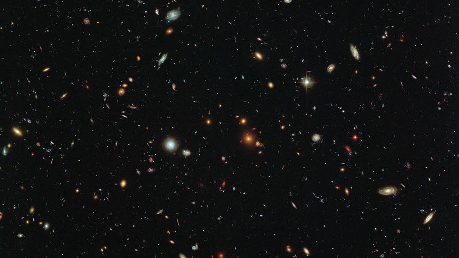 Galaxies litter the cosmos in a picture of the deep universe taken by the Hubble Space ...