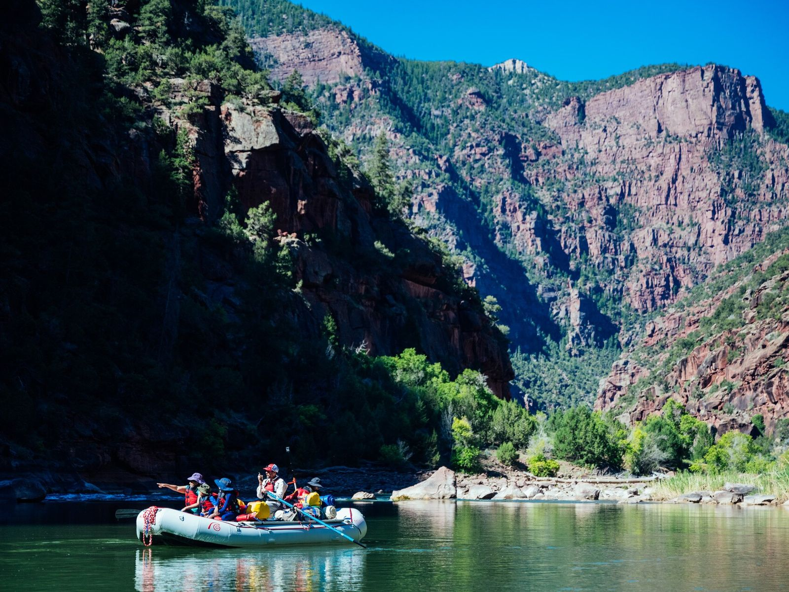 Flaming Gorge National Recreation Area offersa natural playground of fiery, russet-coloured canyons. For an exhilarating brush ...