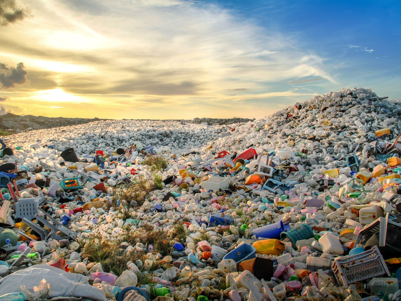 Plastic waste on a dumping ground in the Maldives. The archipelago has an entire island dedicated ...