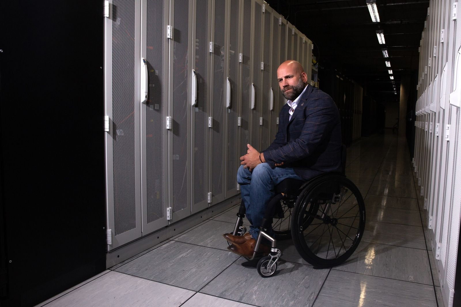 Dr David Abrutat in the server room, GCHQ. The organisation's newly-appointed historian, David is one of ...