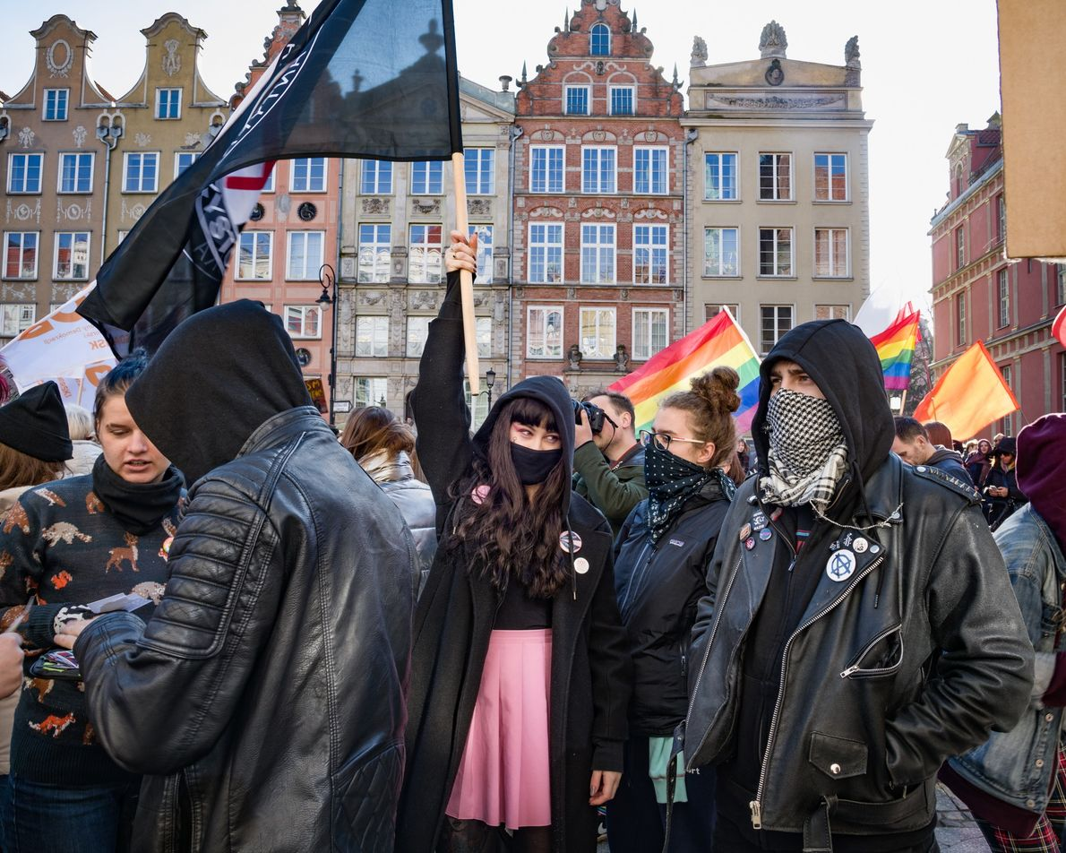 A women's march, called Manifa, wound through the Old Town of Gdańsk, Poland, this spring, highlighting ...