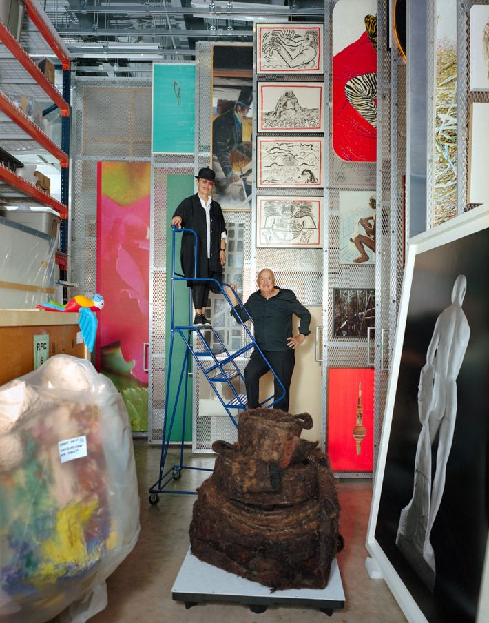 Mera and Don Rubell, standing in one of their storage rooms, own the Rubell Family Collection ...