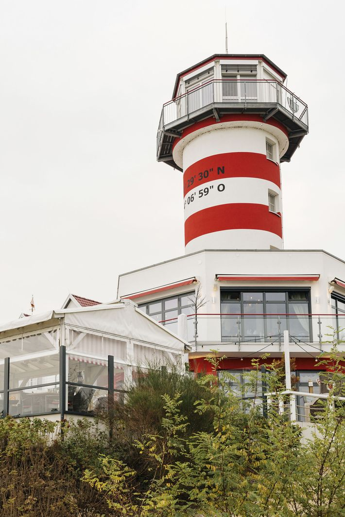 Ammolite, a lighthouse-turned-restaurant in the town of Rust