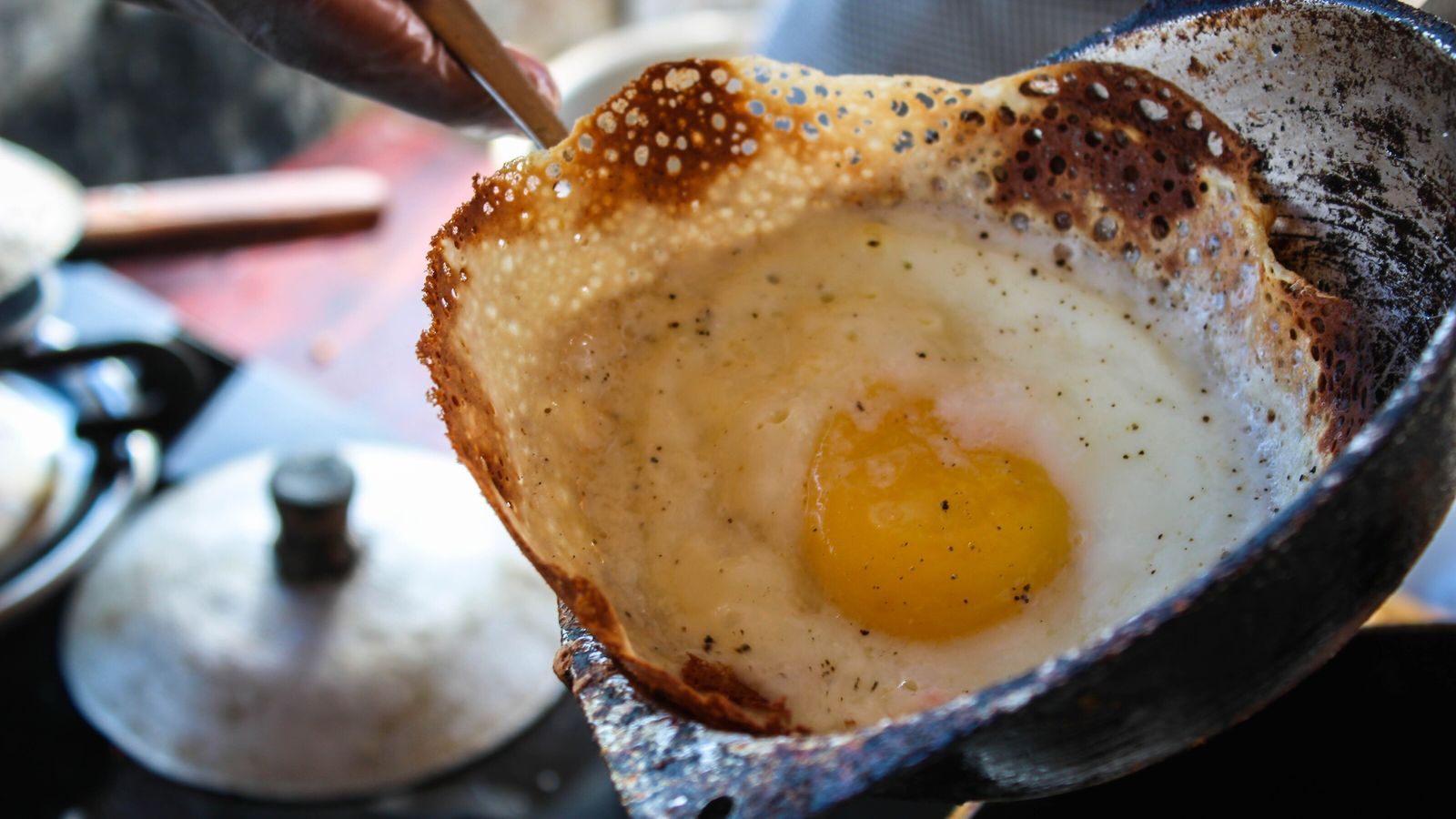 Hoppers are a morning staple in Sri Lanka and a popular street food.