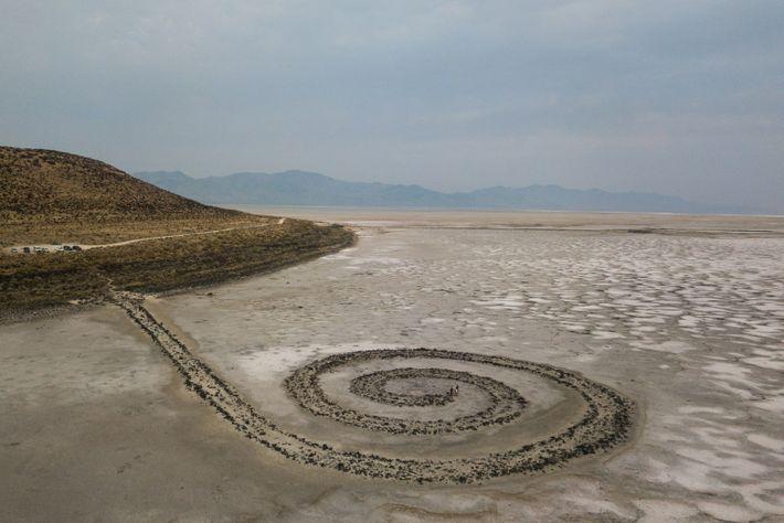 Spiral Jetty Sculpture In Utah