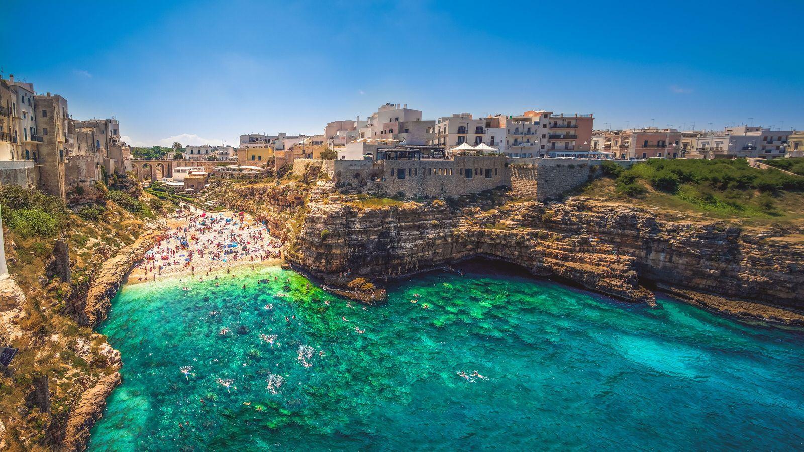 Puglia, in the town of Polignano a Mare province of Bari