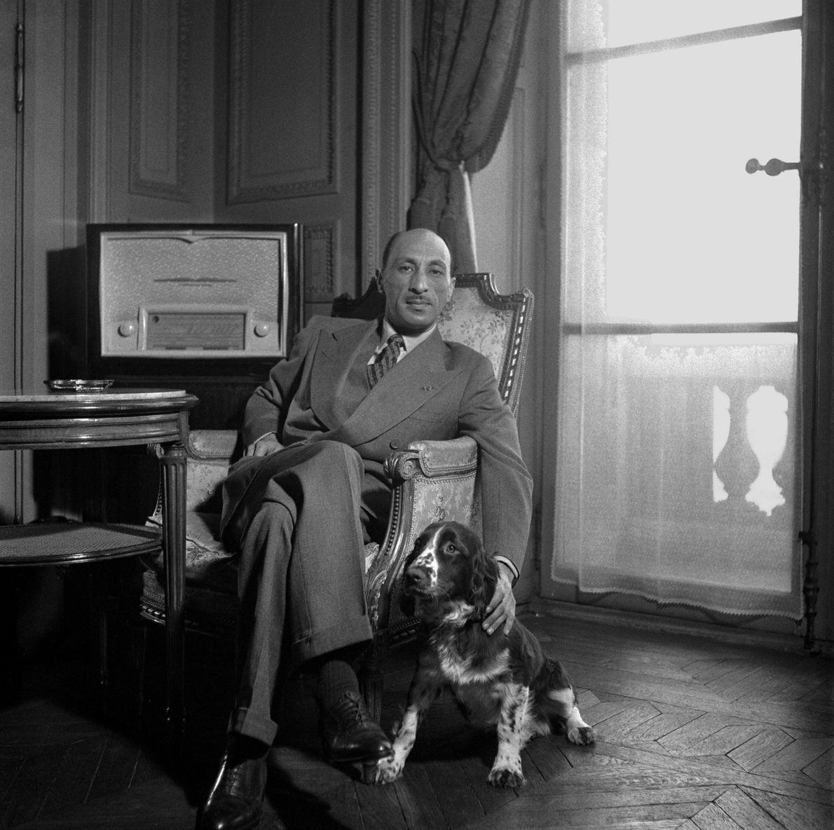 Afghanistan'S King Zahir Shah In France 1950