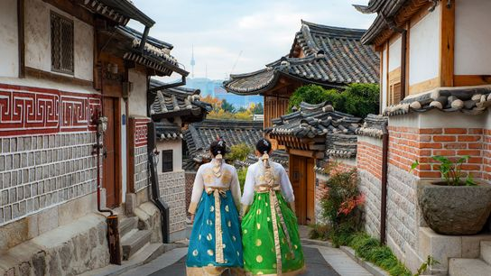 The traditional village of Bukchon Hanok offers an older incarnation of the capital, Seoul — and ...