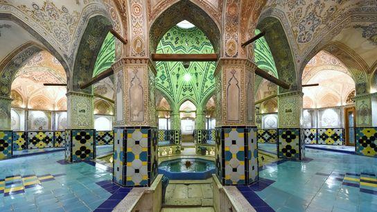 Hammam-e Sultan Mir Ahmad interior details in Kashan, Iran