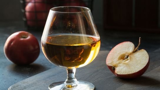 Originally from Normandy, the apple brandy calvados makes a heady digestif.