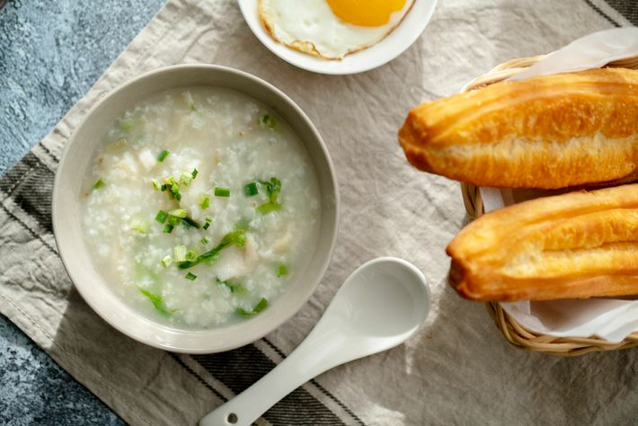 China's rice-porridge breakfast dish, congee, can sounds a bit bland to the uninitiated. Switch it up with ...
