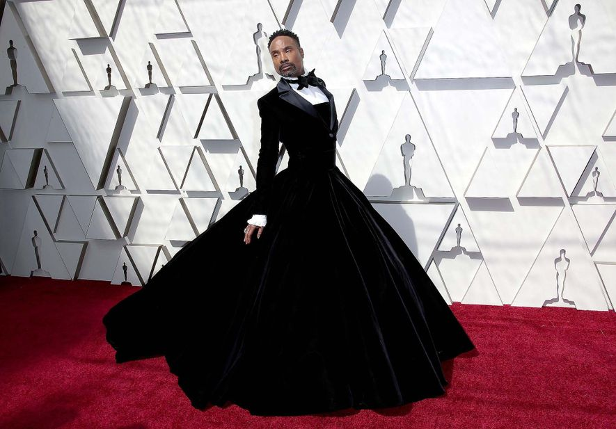 "Actor Billy Porter attended the 2019 Academy Awards in a Christian Siriano dress. ""My goal is ..."