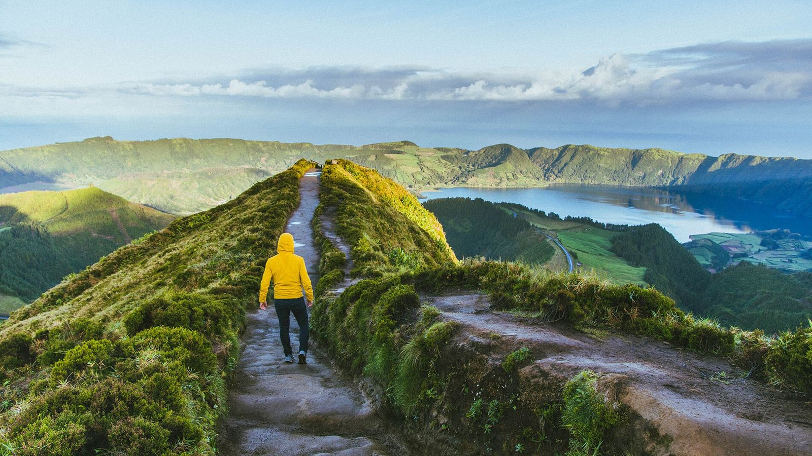 The Azores is known for its dark-sand beaches and beautiful serrated cliffs.