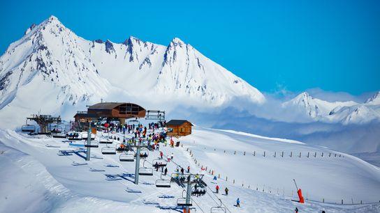 Les Arcs region of Alps