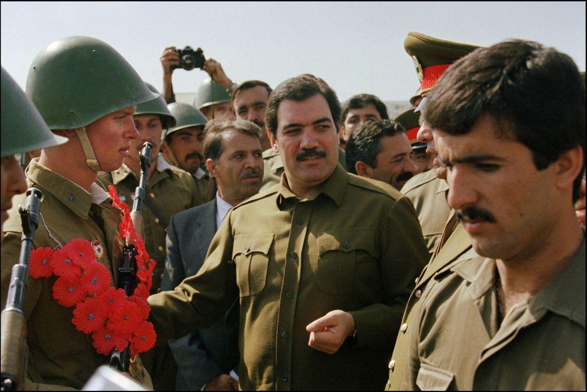 Afghanistan's president Mohammed Najibullah