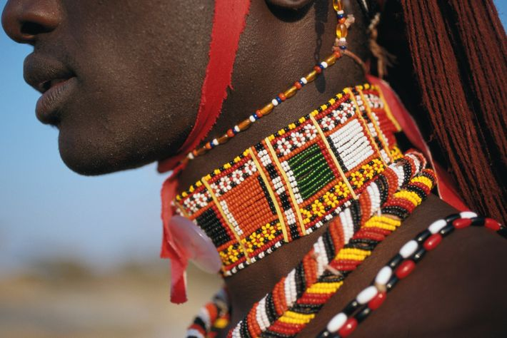 Beadwork is a sign of beauty, strength and social status amongst the Maasai Mara people.