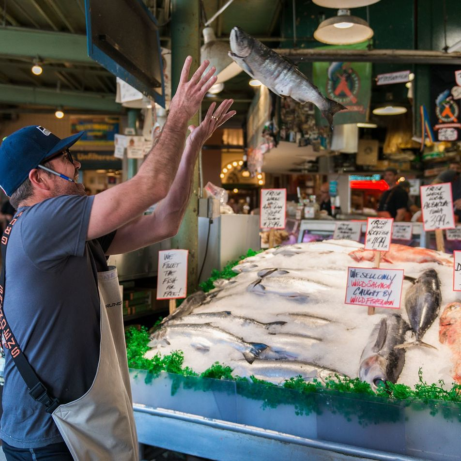 Meet the famous fish throwers of Seattle's Pike Place Market
