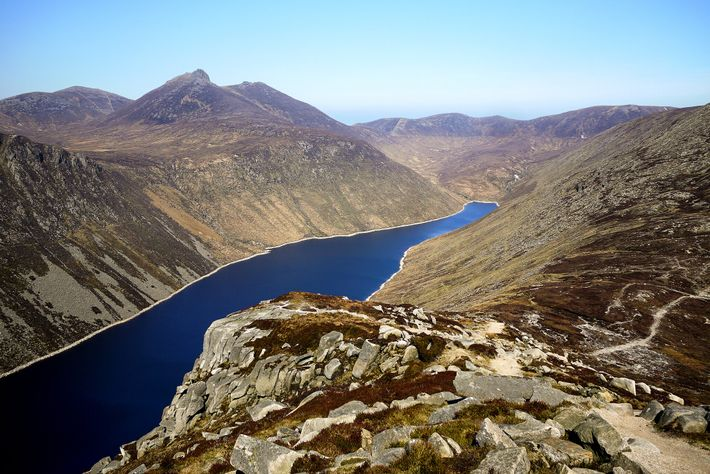 The Mourne mountain range is home to Northern Ireland's tallest mountain, the mighty, 2,700ft Slieve Donard.
