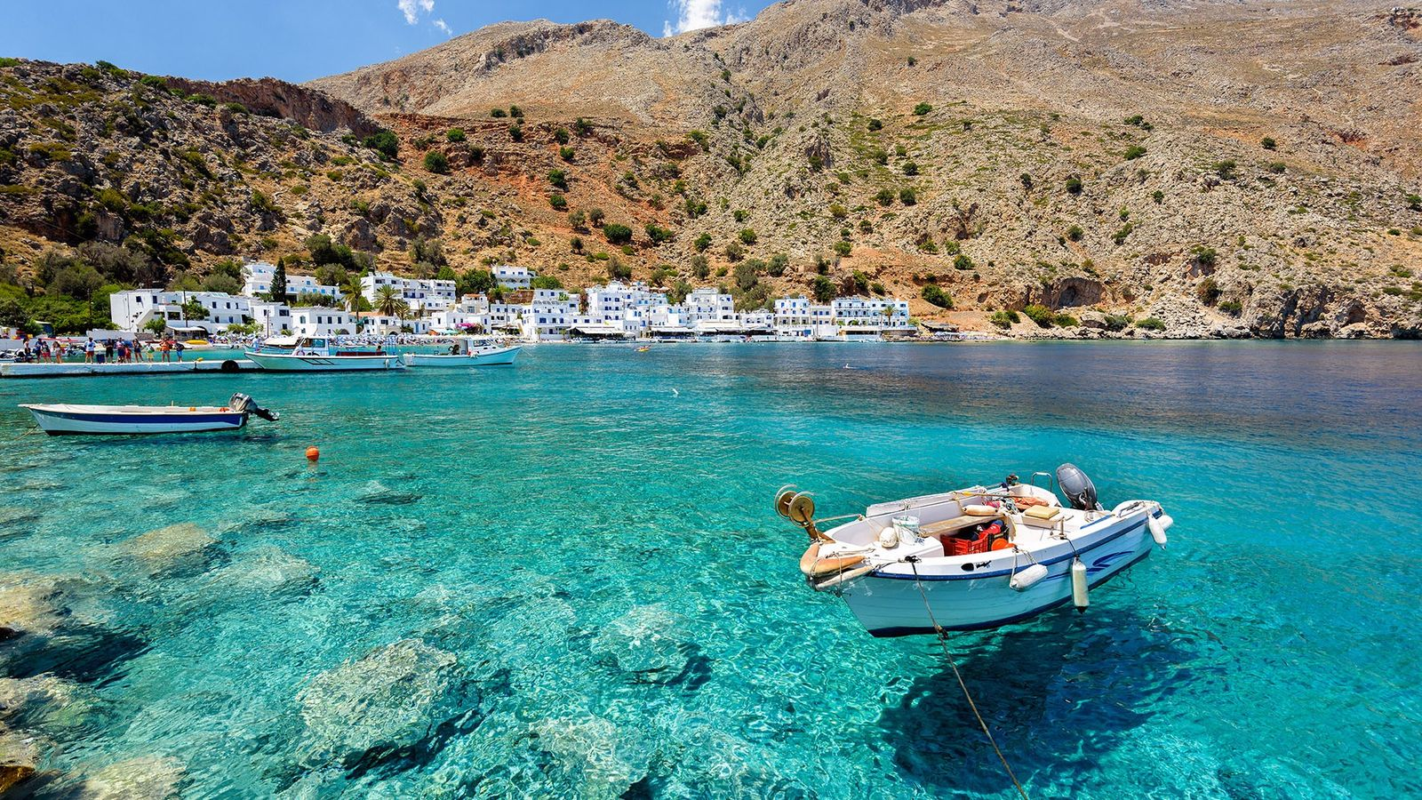 The little village of Loutro lies on the south coast of Chania, and idyllic little spot ...