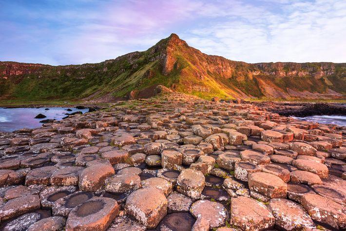 The Giant's Causeway comprises around 40,000 interlocking, hexagonal, basalt columns.