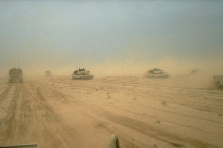 Tanks in Kuwait Desert