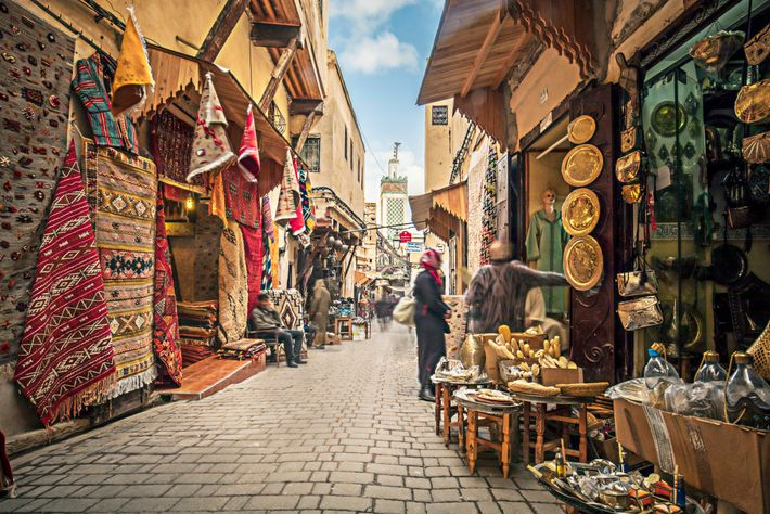 The souks of Fez, Morocco. Here,iftar is welcomed over harira, the hearty soup whose name comes ...
