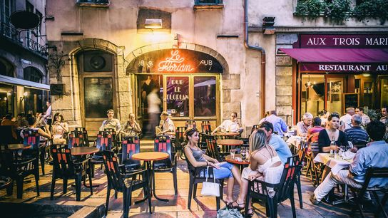 There are only 22 certified bouchons in Lyon, friendly establishments with unfussy menus and red-and-white chequered tablecloths.