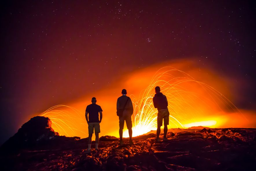 A guide is a must, but adventure seekers can gaze at the mesmerising lava lake on ...