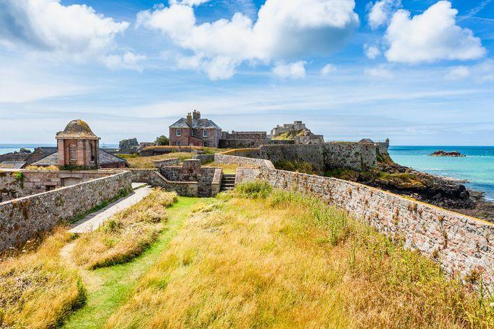 Elizabeth Castle, off the coast of Saint Helier.