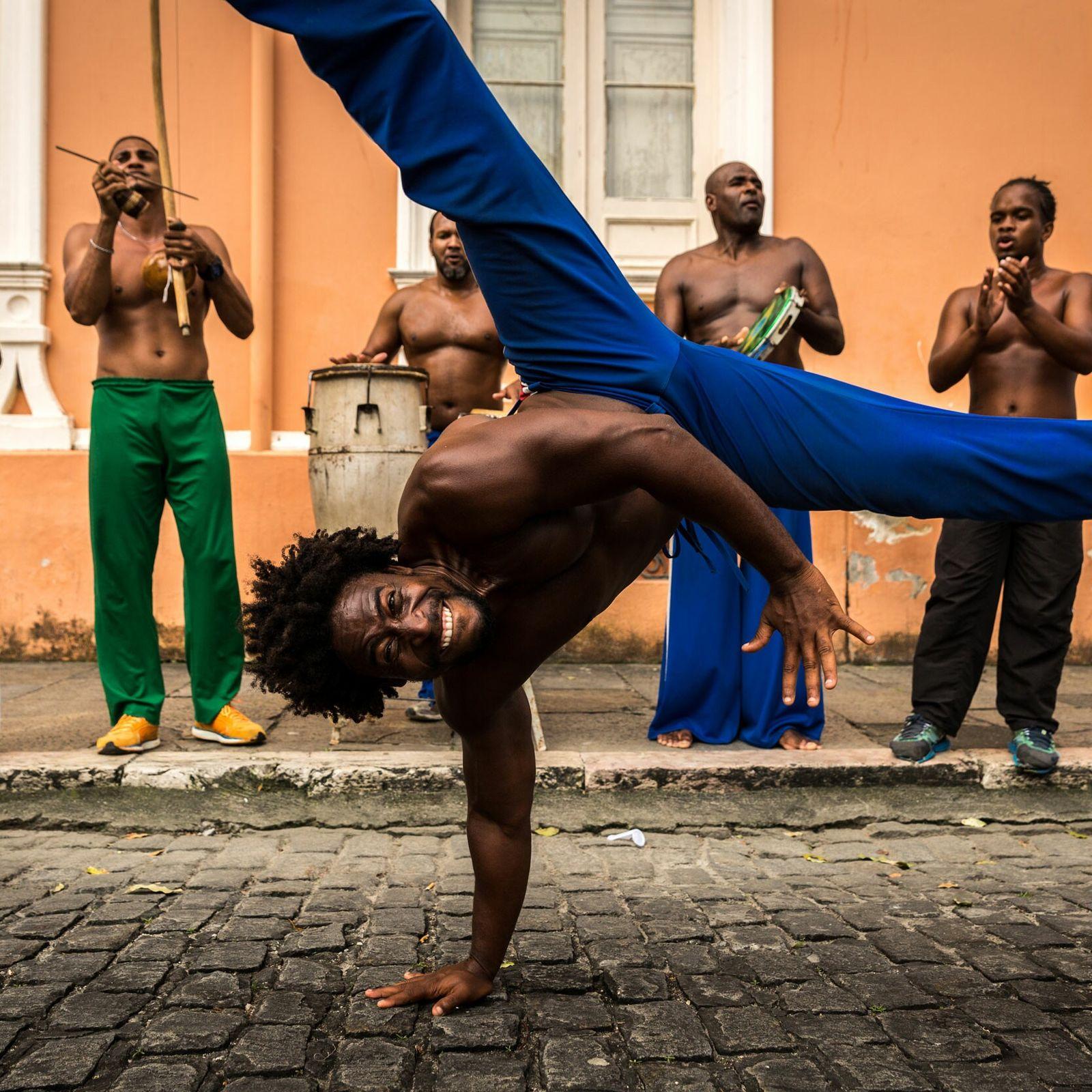 Capoeira's spiritual home is the pretty port city of Salvador, whose lively beaches and squares pulse ...
